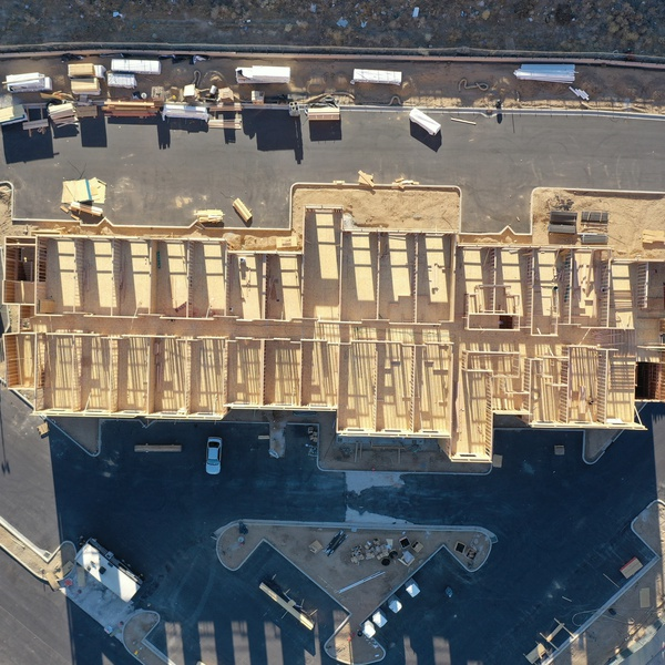 Eagle -Eye view construction site