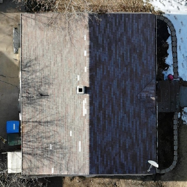 Orthomosaic roof inspection