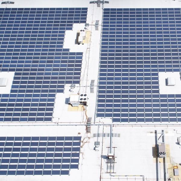 Flat Roof Solar Panel Inspection