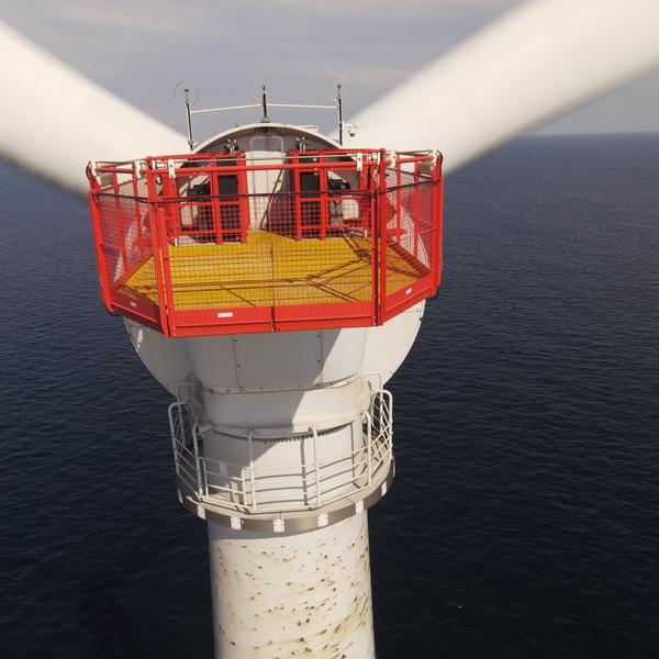 Windmill in Atlantic ocean