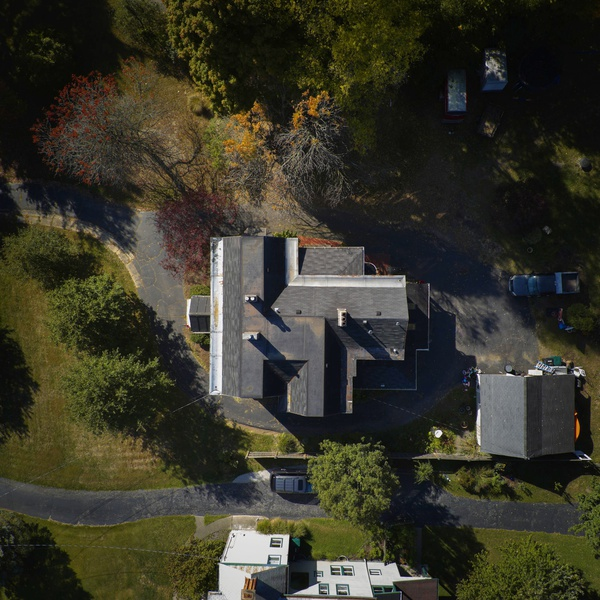 Artistic aerial real estate plot