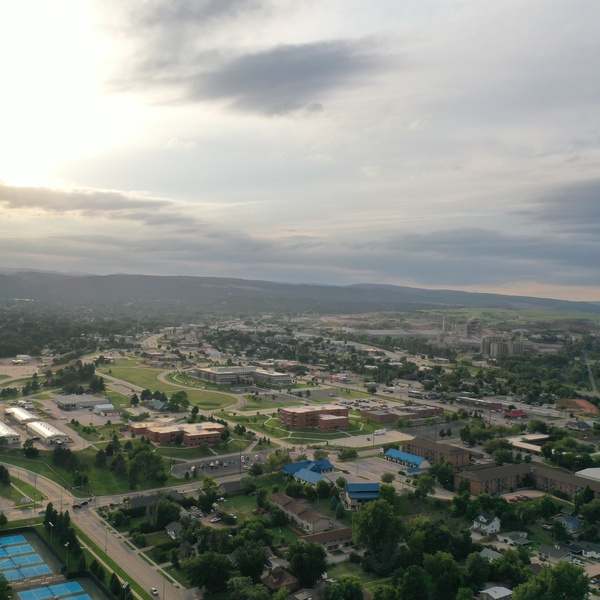 A taste if aerial photography of Rapid City.