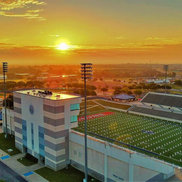 WISD Stadium set up for graduation.
