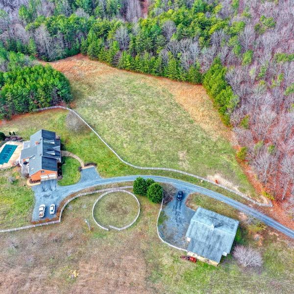 Overhead house and horse barn