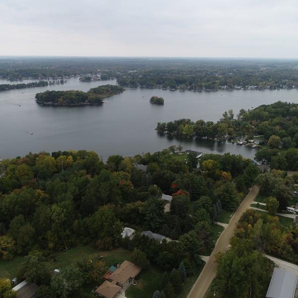 cloudy lake day