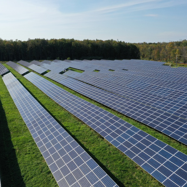 Visual and Thermal Infrastructure Inspections - Solar array in Utica New York