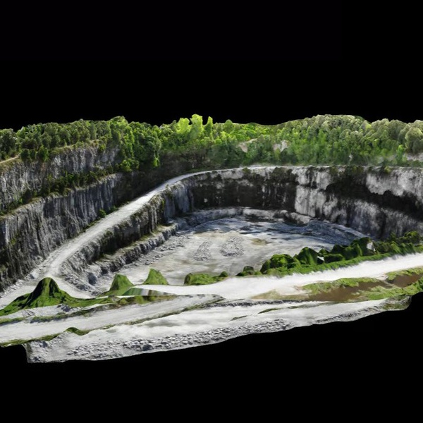 3D Mapping of a rock quarry using Drone up