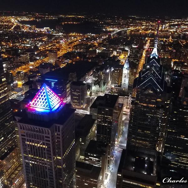 Philadelphia Center City Skyline At Night (West Side)