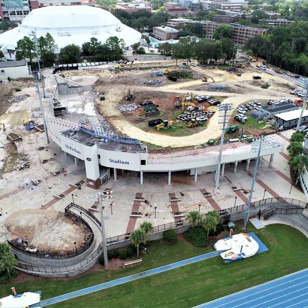 Demolition of McKethan Baseball Stadium at University of Florida
