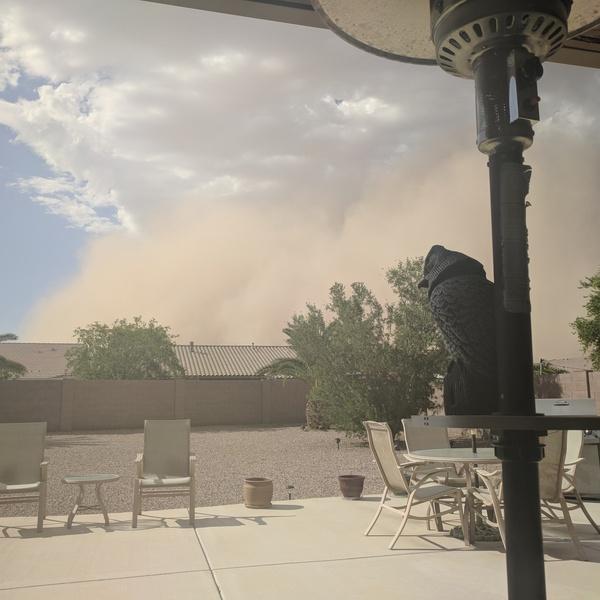 Dust storm rolling in. Eye level