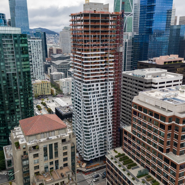High End Apartments SF-Hired to shoot video of install Outside wall & Windows.