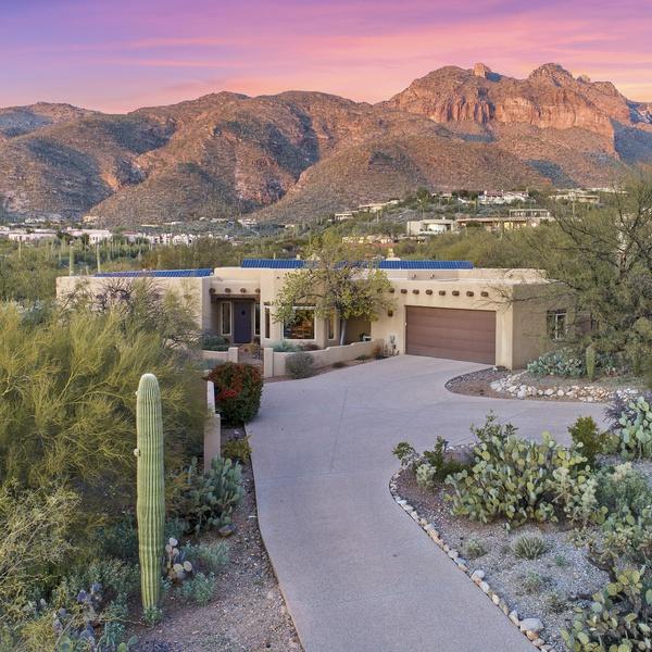 Luxury Home Sunset Shot
