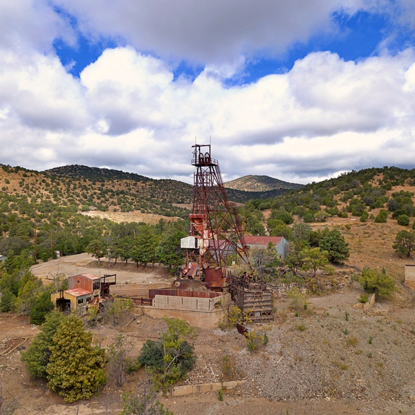 Remnants of the Empire Zink Mine, Hanover, NM