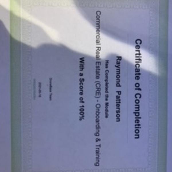 DroneBase CRE certificate