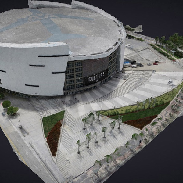 Photogrammetry 3D mesh of American Airlines Arena