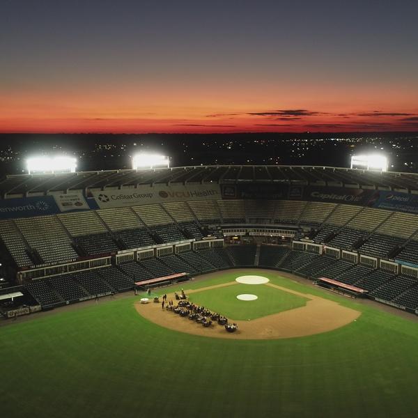 Richmond Flying Squirrels Stadium Sunset