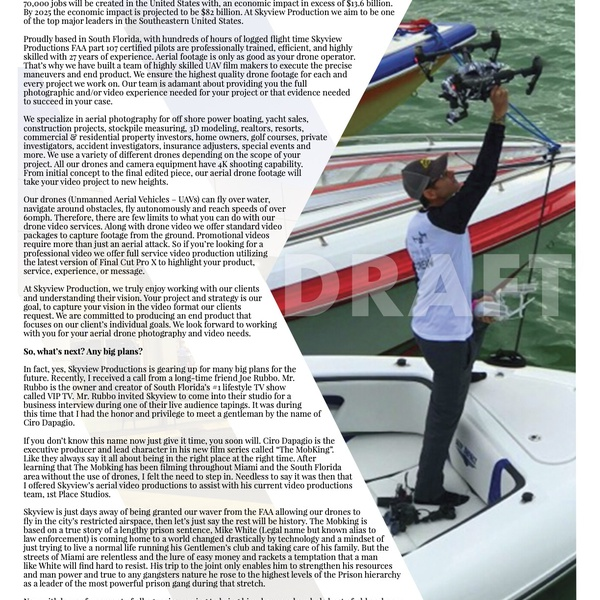 Voyage Magazine Article On Skyview Productions (Page 2)
