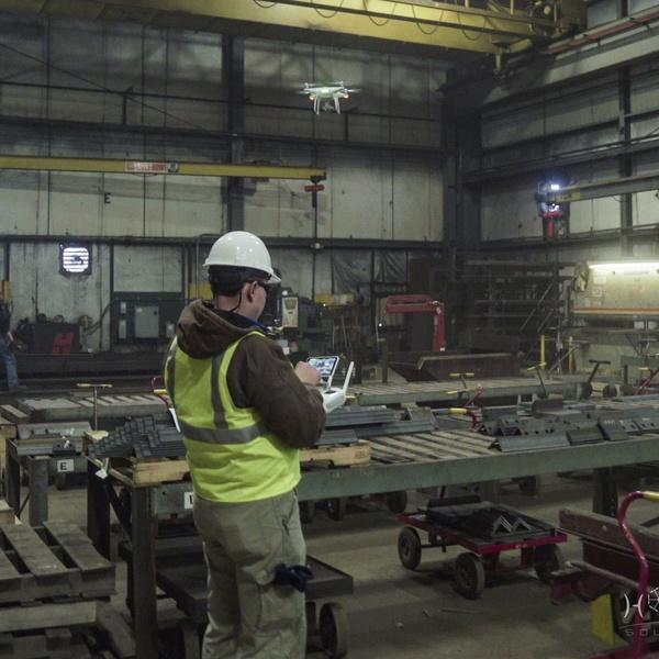 Flying Inside a Steel Finishing Plant