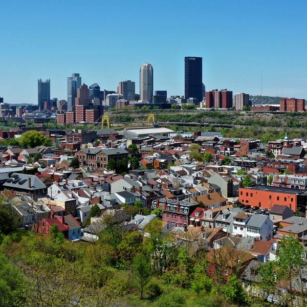 A rare blue sky in Pittsburgh