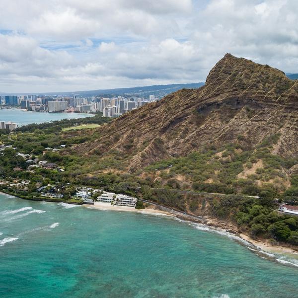 Diamond Head and Honolulu, HI