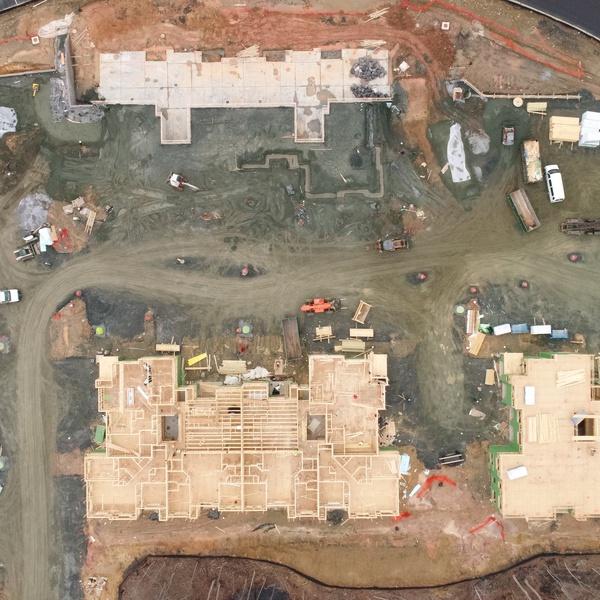 Construction Progress - Apartment Building Site 1