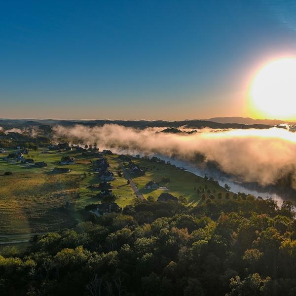 Sunrise with fog