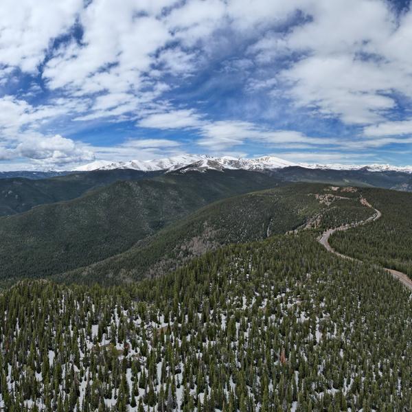 Mount Evans 180 Degree Panorama