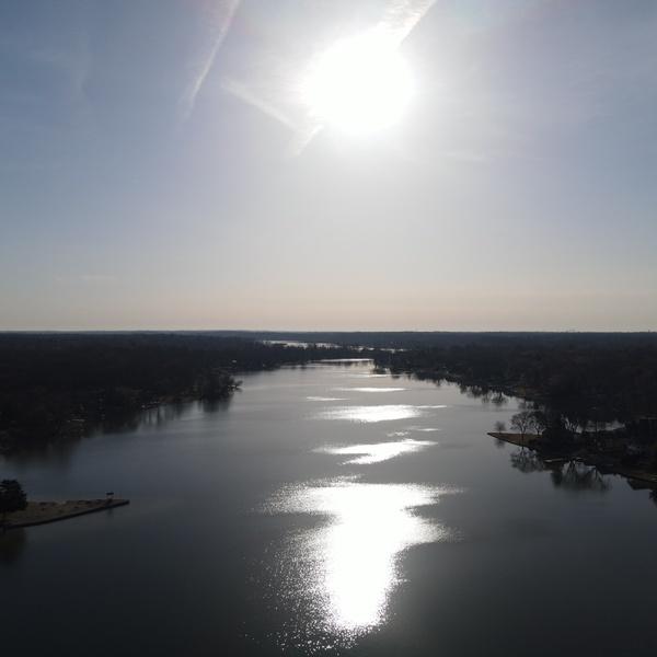 Sun on lake