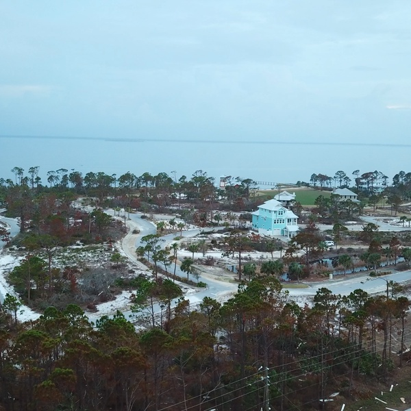 View of Damage from Hurricane Michael