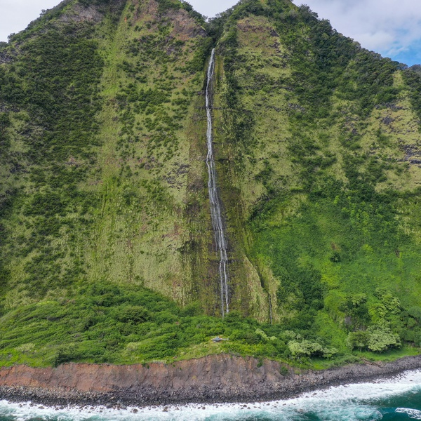Waterfall at Apua Point, Kohala, HI