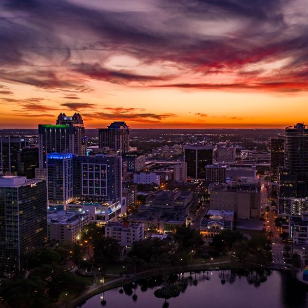 Downtown Orlando Sunset