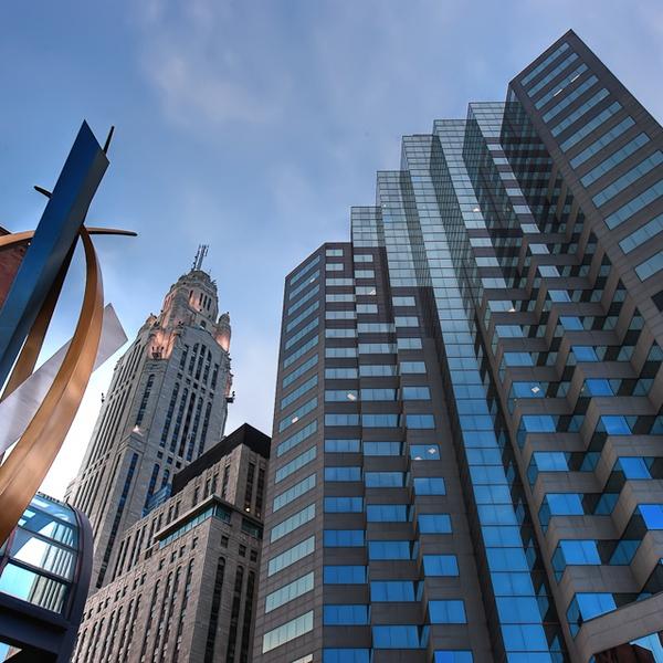 Real Estate Photography Columbus, Ohio.  Downtown Skyline