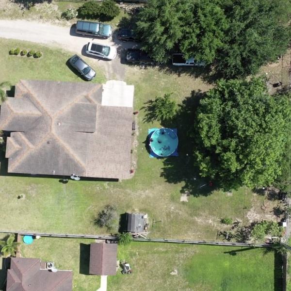 Bird Eye view of house