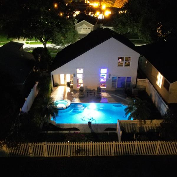 Night w a pool