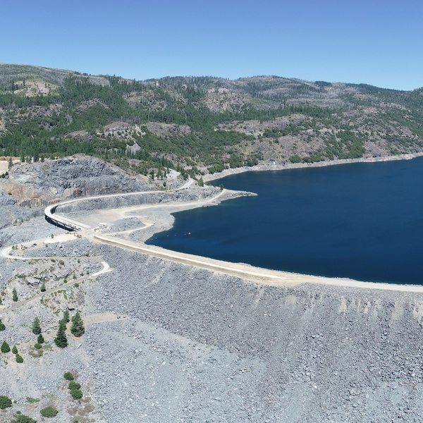 Hell Hole Reservoir Construction Site Panorama