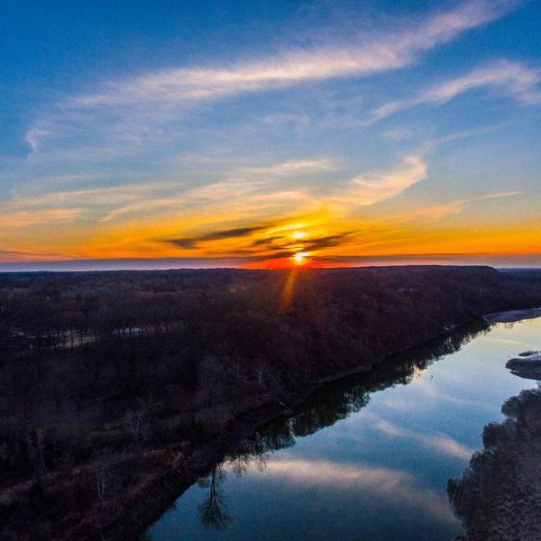 Sunset over Missouri River (edited)