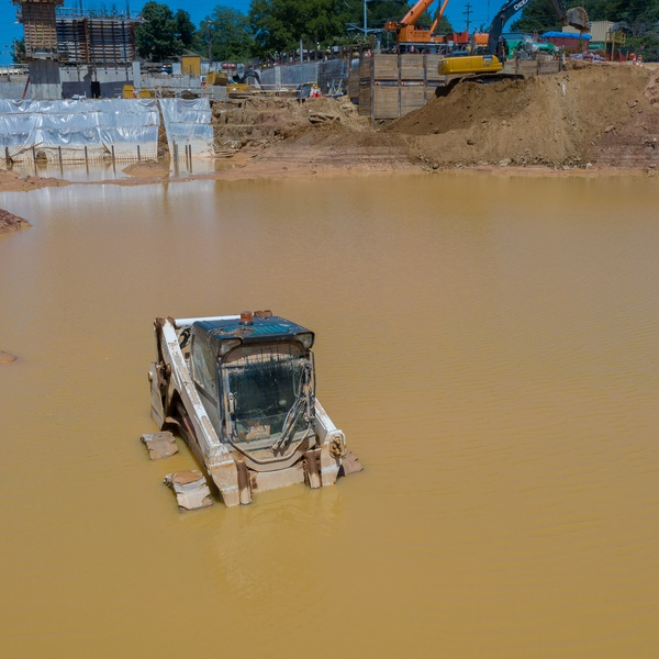 Flood Damage Documentation at a Construction Site in Falls Church, VA