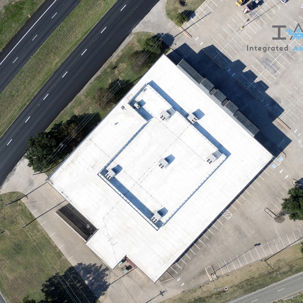 Top down view, commercial real estate