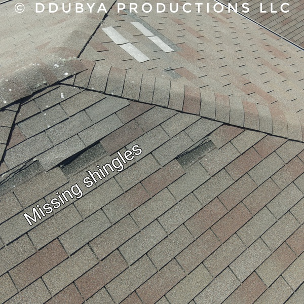 Roof inspection damage