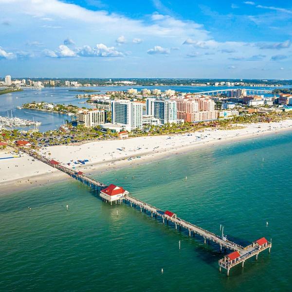 Orlando Beach Drone Visual