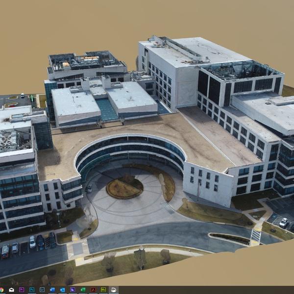 A 3D Model of a Medical Building