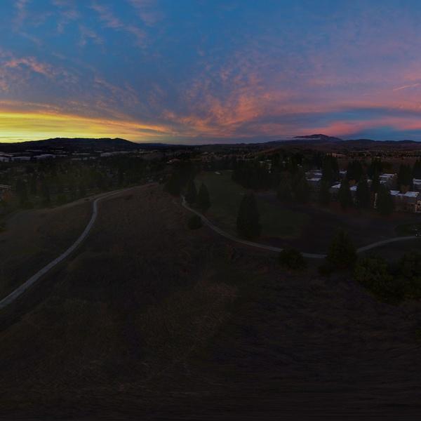 360 Pano of San Ramon sunset
