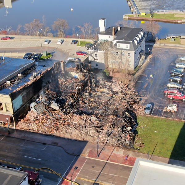 Site of Commercial Property Damage