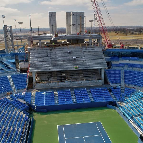 Lindner Tennis Center Construction 2018 Before (February 2018)