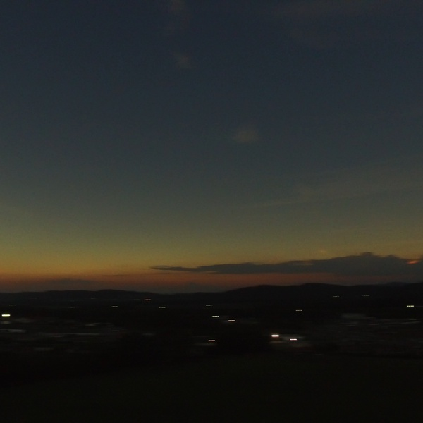 An Eclipse Sunset before Noon