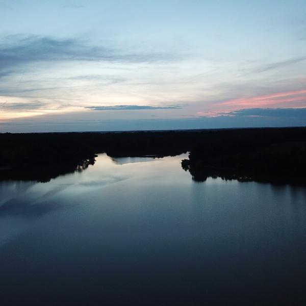 Beautiful Illinois Lake at Sunset