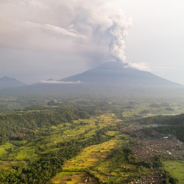 Mount Agung Plume