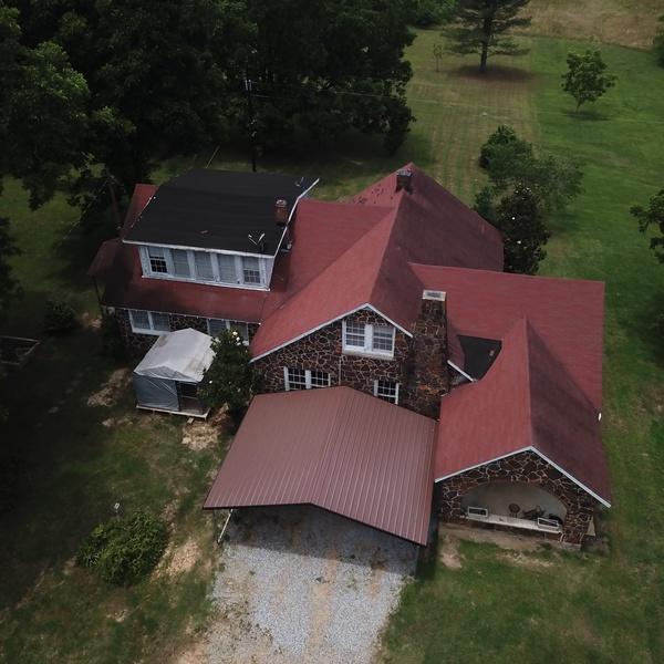 Aerial real estate image
