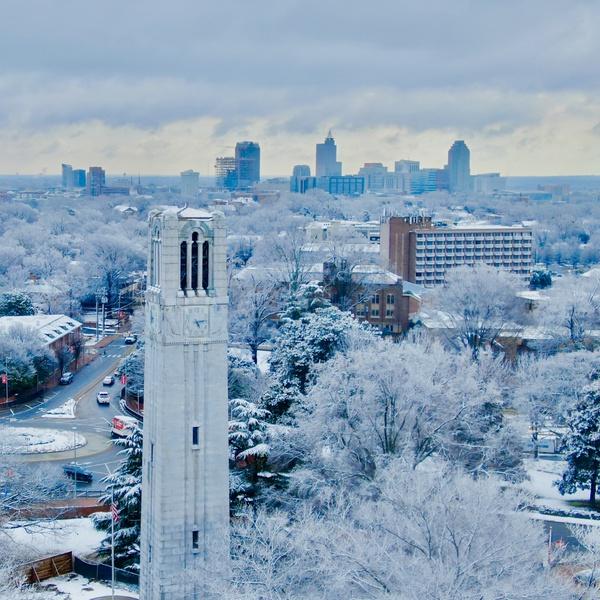Snowy Memorial Bell Tower