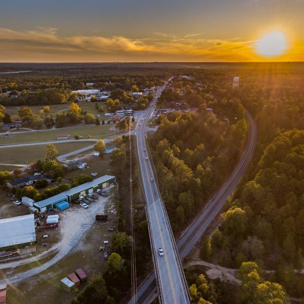 Sunset in Elgin, South Carolina